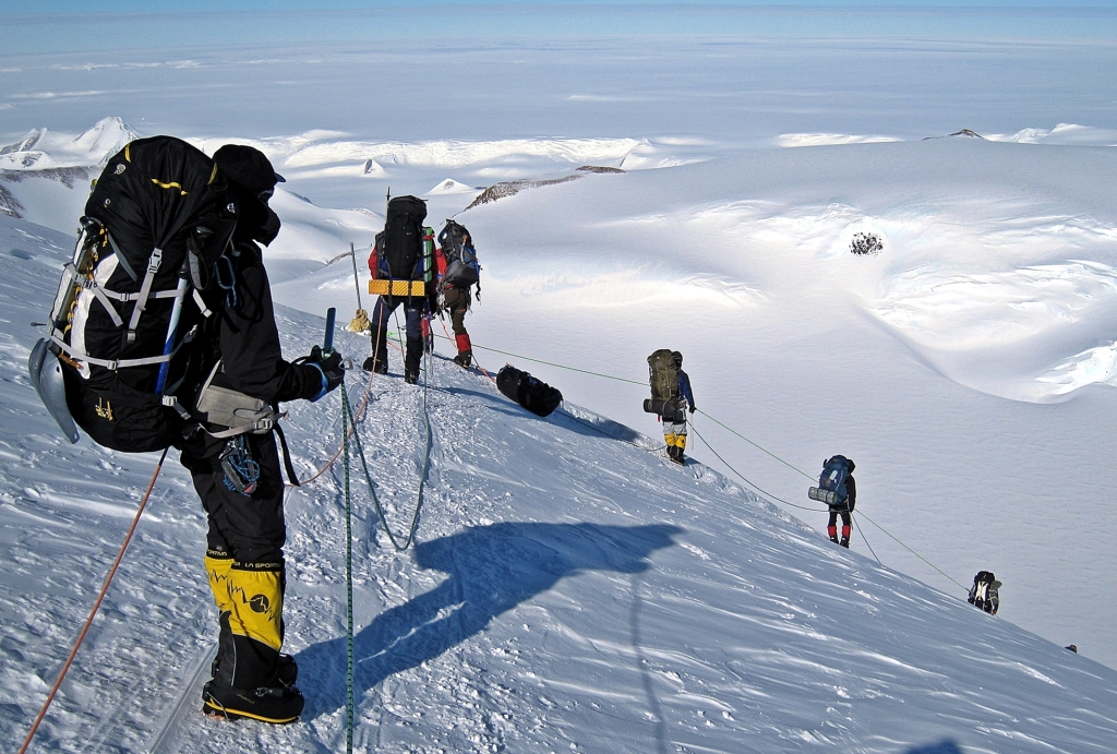 Descending to Low Camp