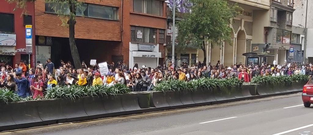 Protesters, Bogota