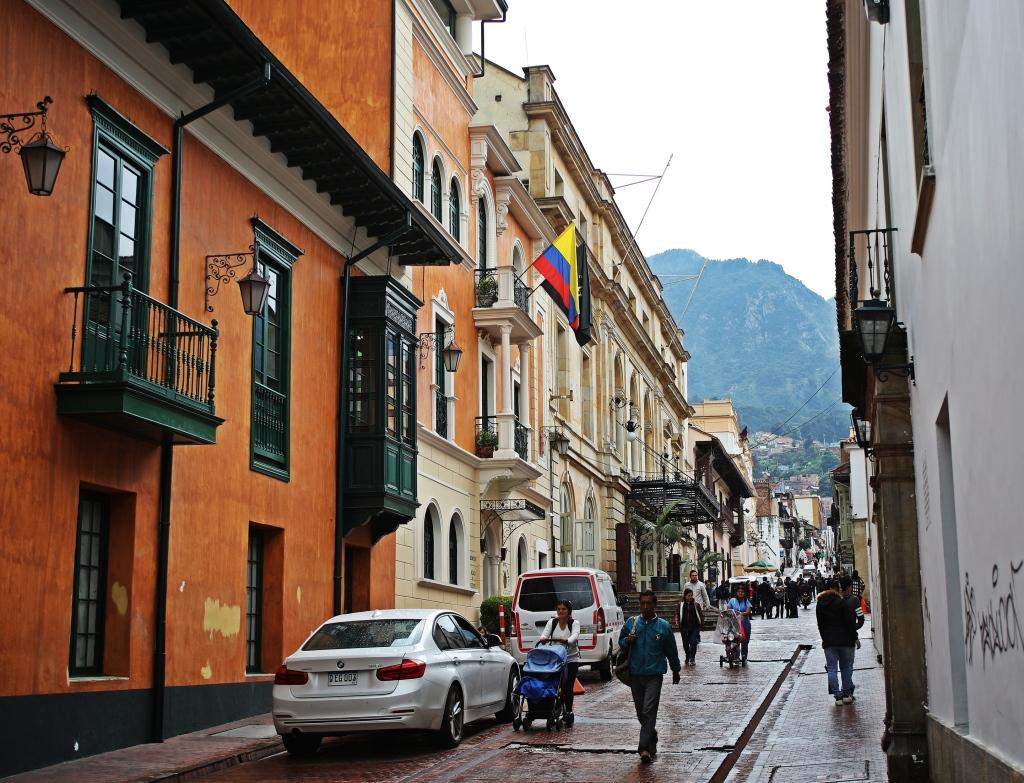 Street in Candalaria, Bogota