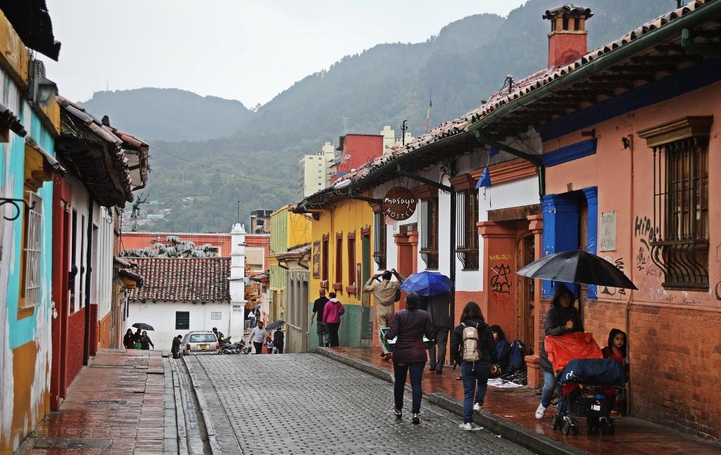 Colonial homes, Candalaria, Bogota