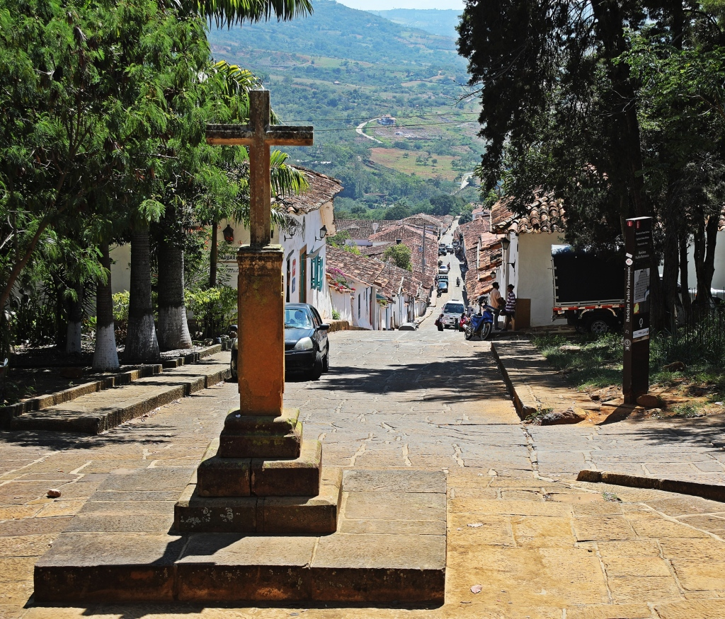 Looking down to Barichara from Capilla de Santa Barbara
