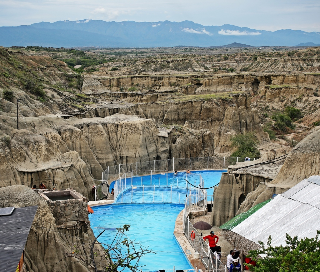 Public pools in Tatacoa desert