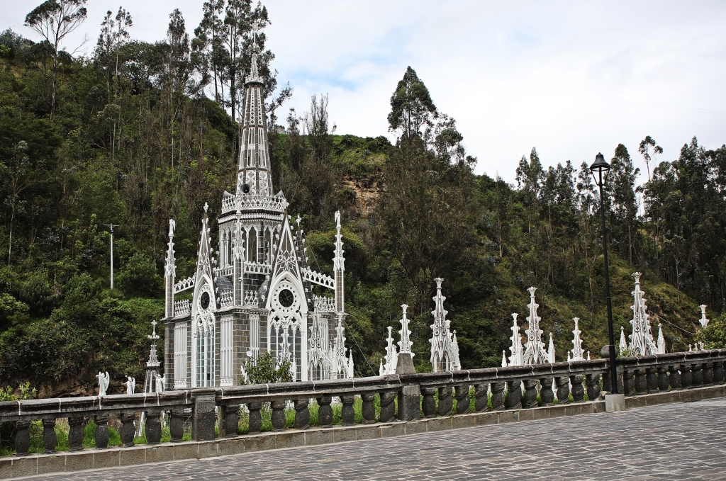 Spires of Las Lajas Sanctuary