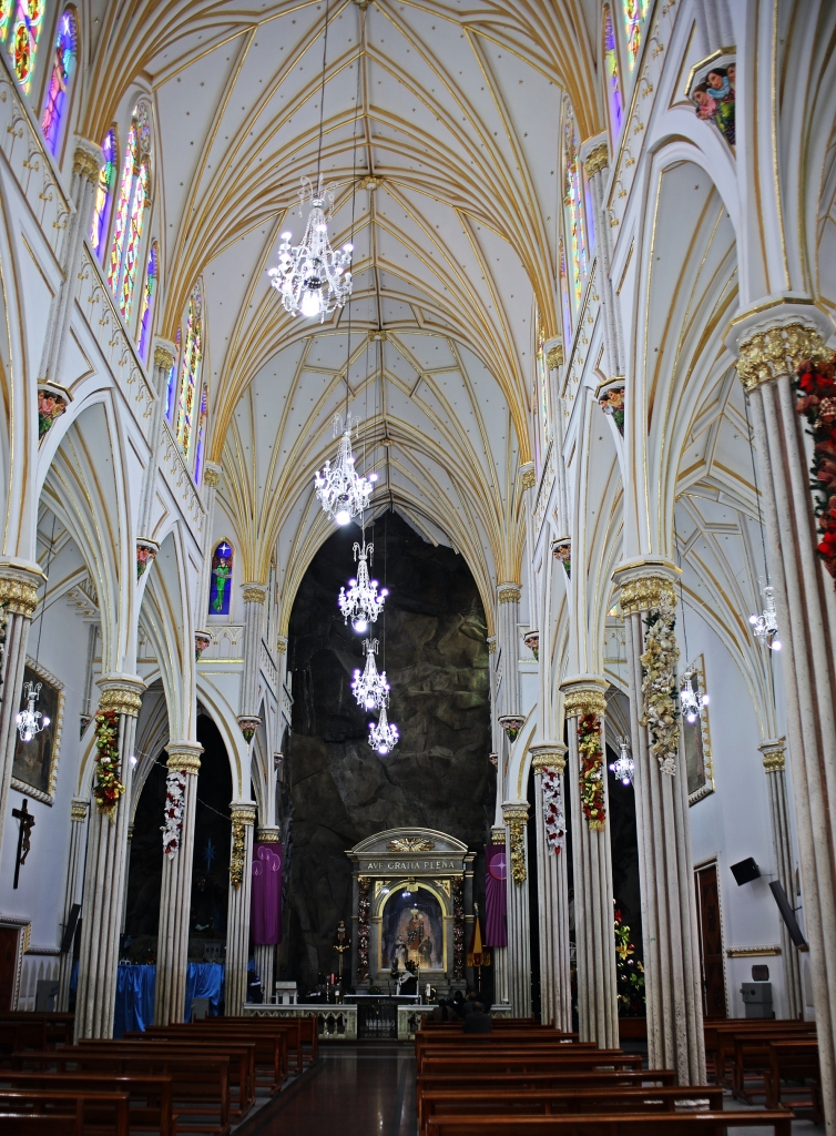 Inside Las Lajas Sanctuary
