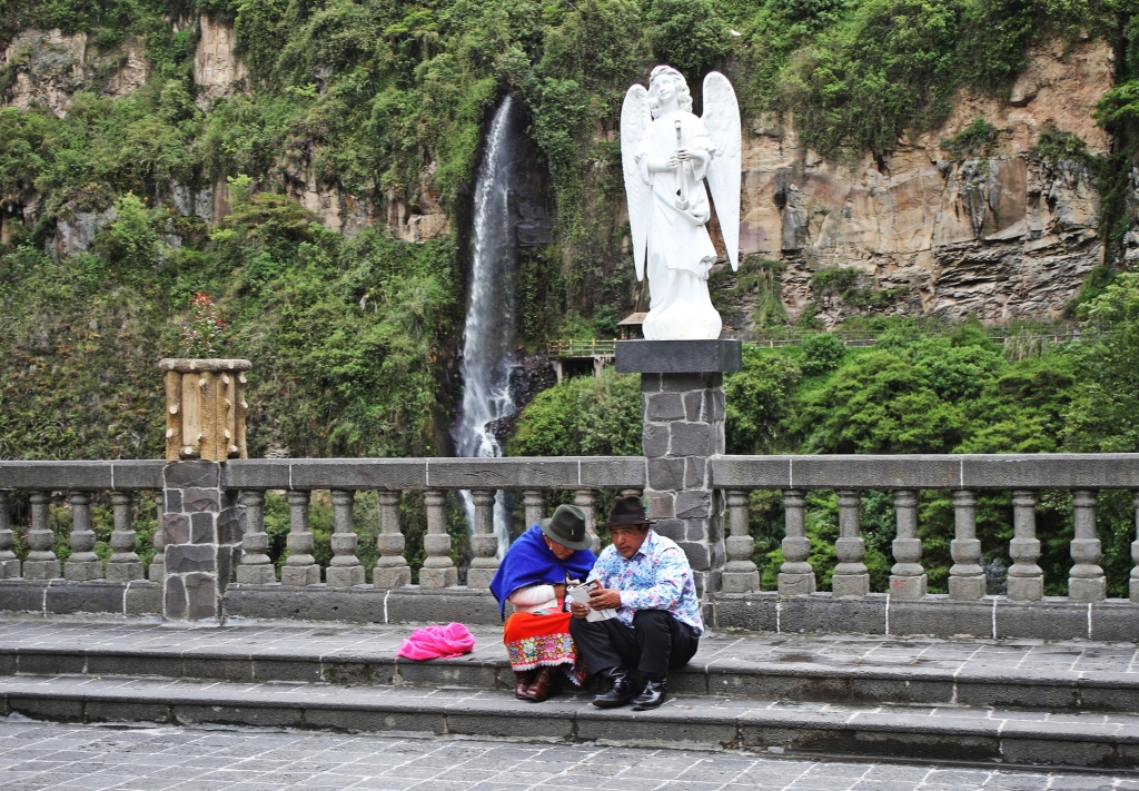Pilgrims at Las Lajas Sanctuary