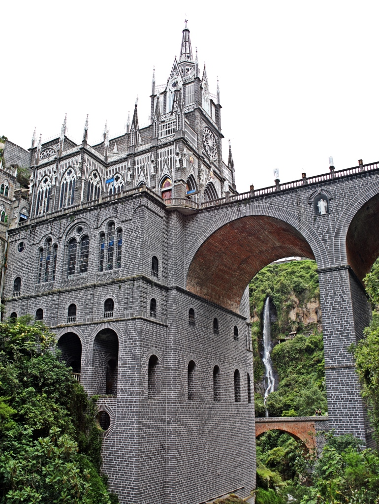 Las Lajas Sanctuary and waterfall