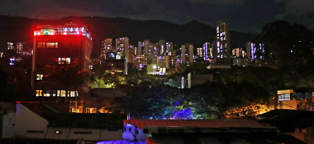 Medellin skyline at night
