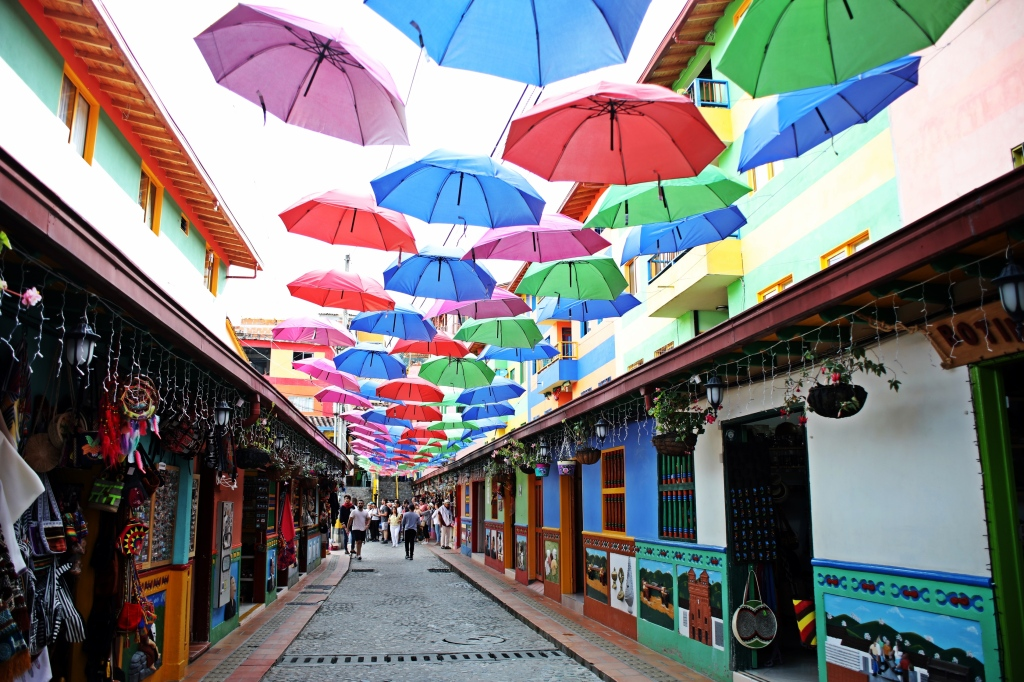 Colourful streets of Guatape