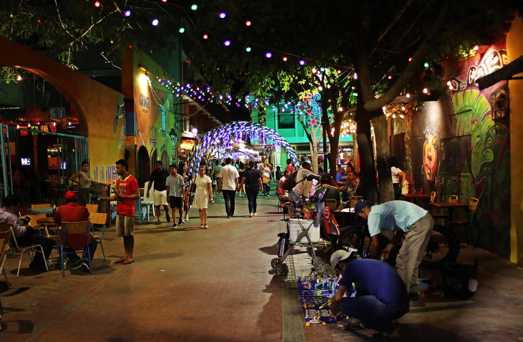 Santa Marta tourist zone at night