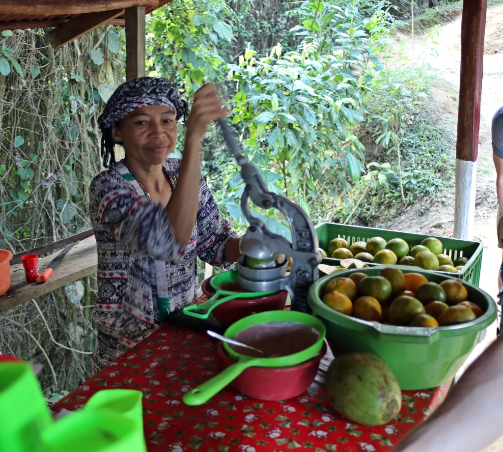 Making orange juice, Ciudad Perdida Trek