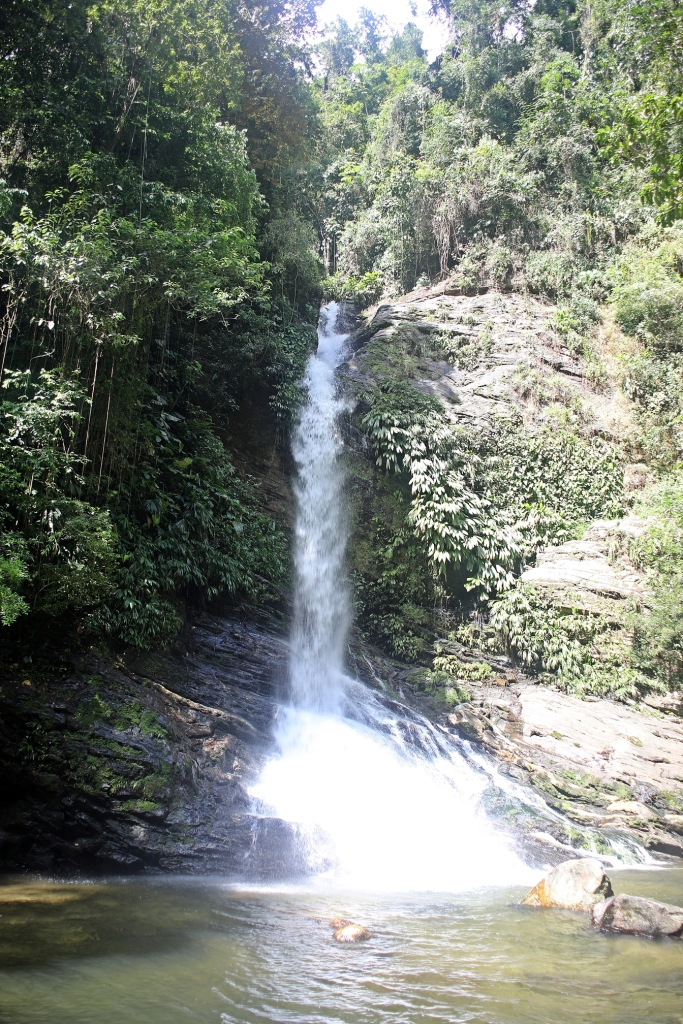 Wiwa Camp waterfall, Ciudad Perdida Trek