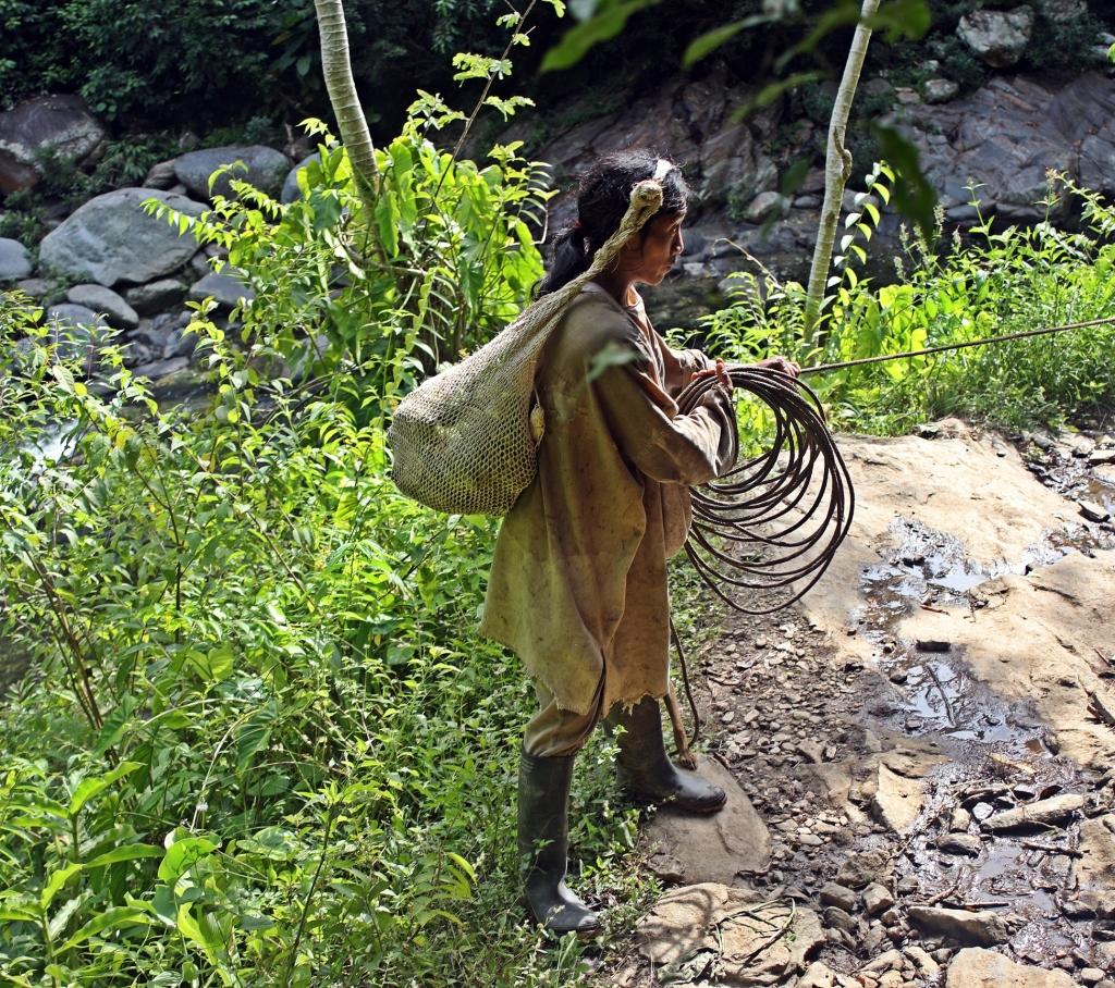 Indigenous farmer, Cuidad Perdida Trek