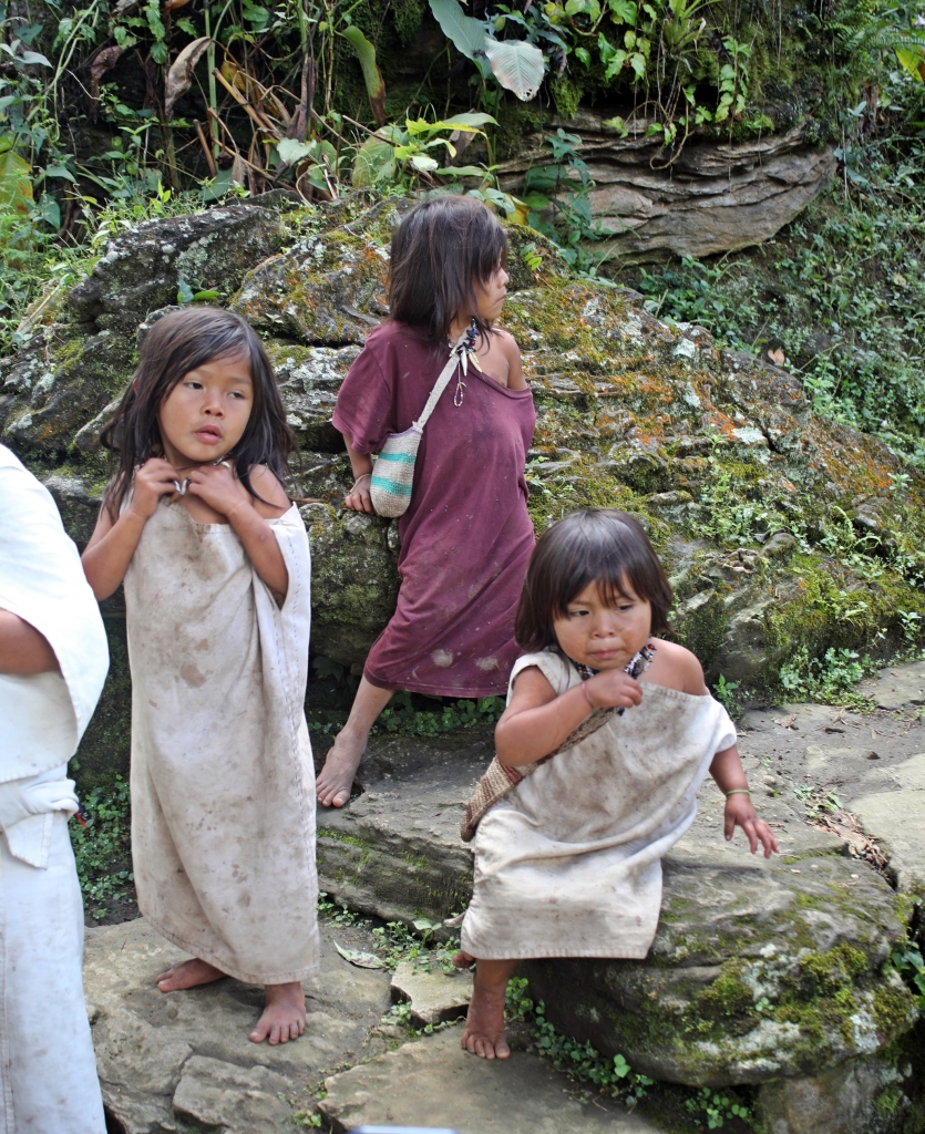 Indigenous kids, Cuidad Perdida Trek