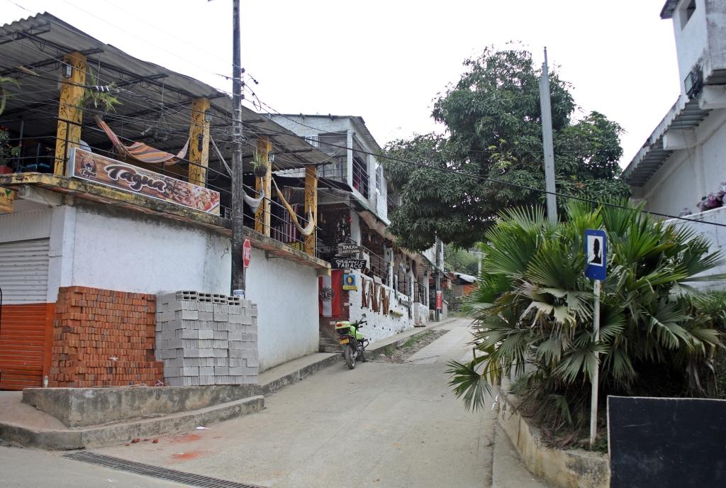 Minca's main street