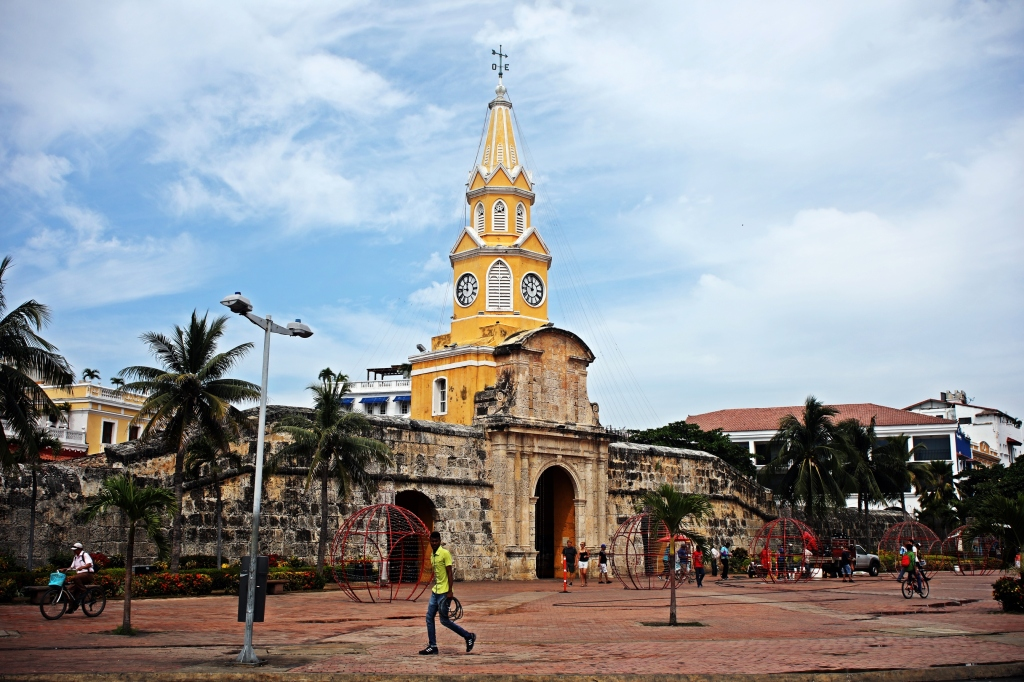 Entrance gate to The Walled City, Cartagena