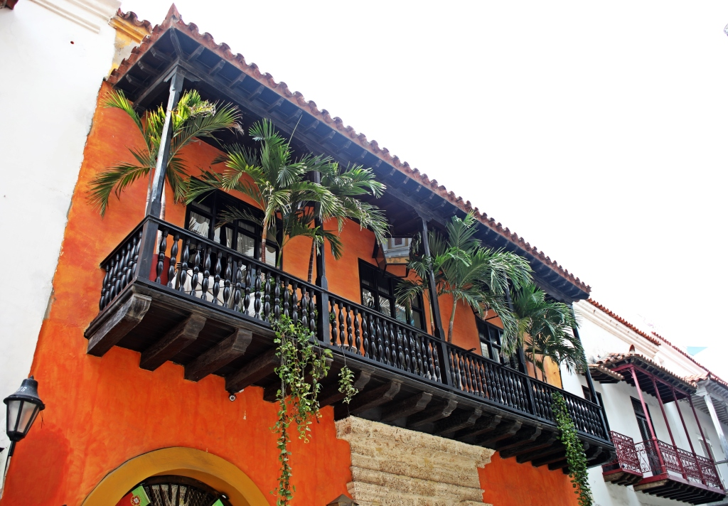 Colourful building, Cartagena