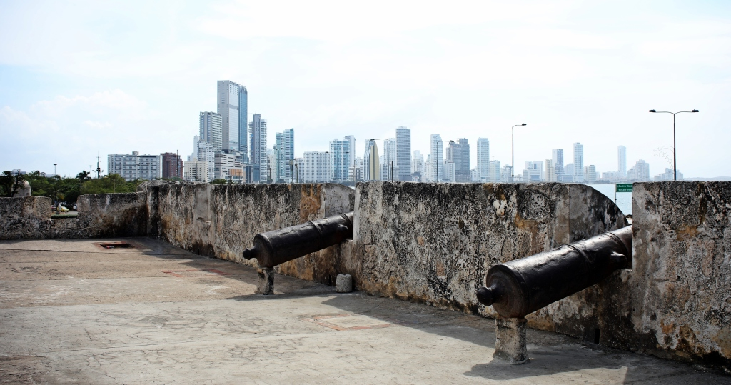Highrises behind the old wall, Cartagena