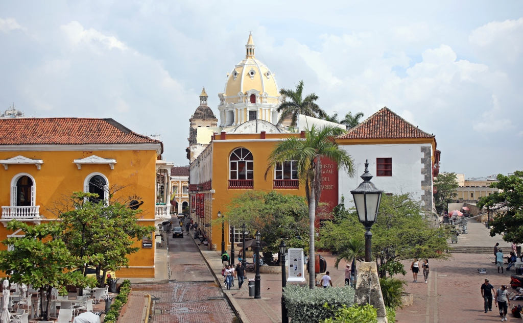 The Walled City seen from the wall, Cartagena