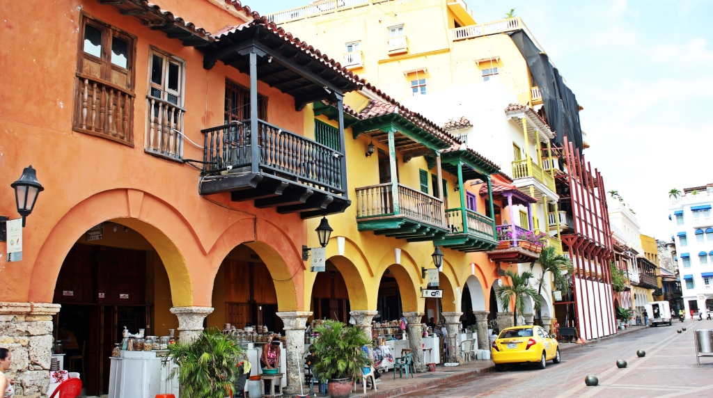 Colourful buildings, Cartagena