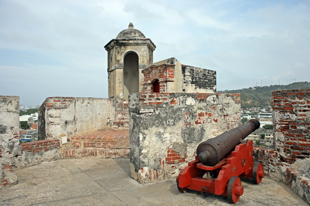 Lookout and canon, San Felipe de Barajas Castillo, Cartagena