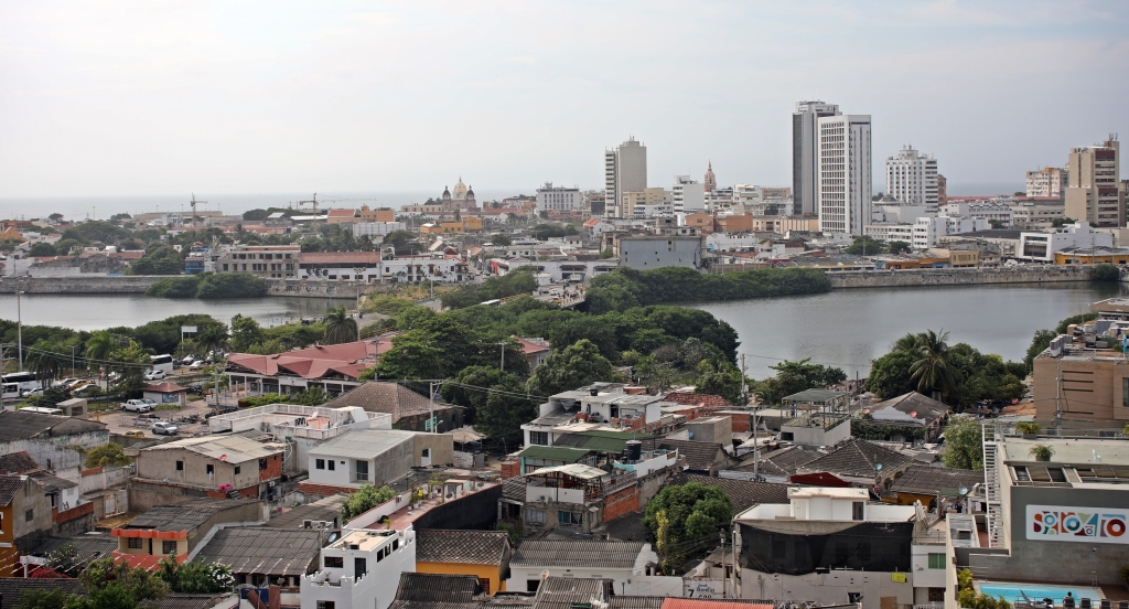 View of the Walled City from the castle, Cartagena