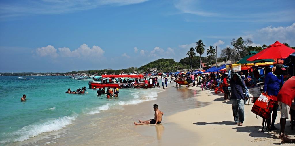 A busy Playa Blanca