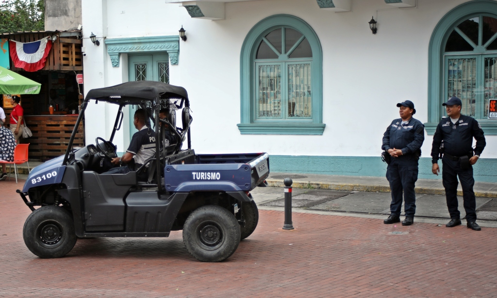 Tourist Police vehicle, Casco Viejo, Panama
