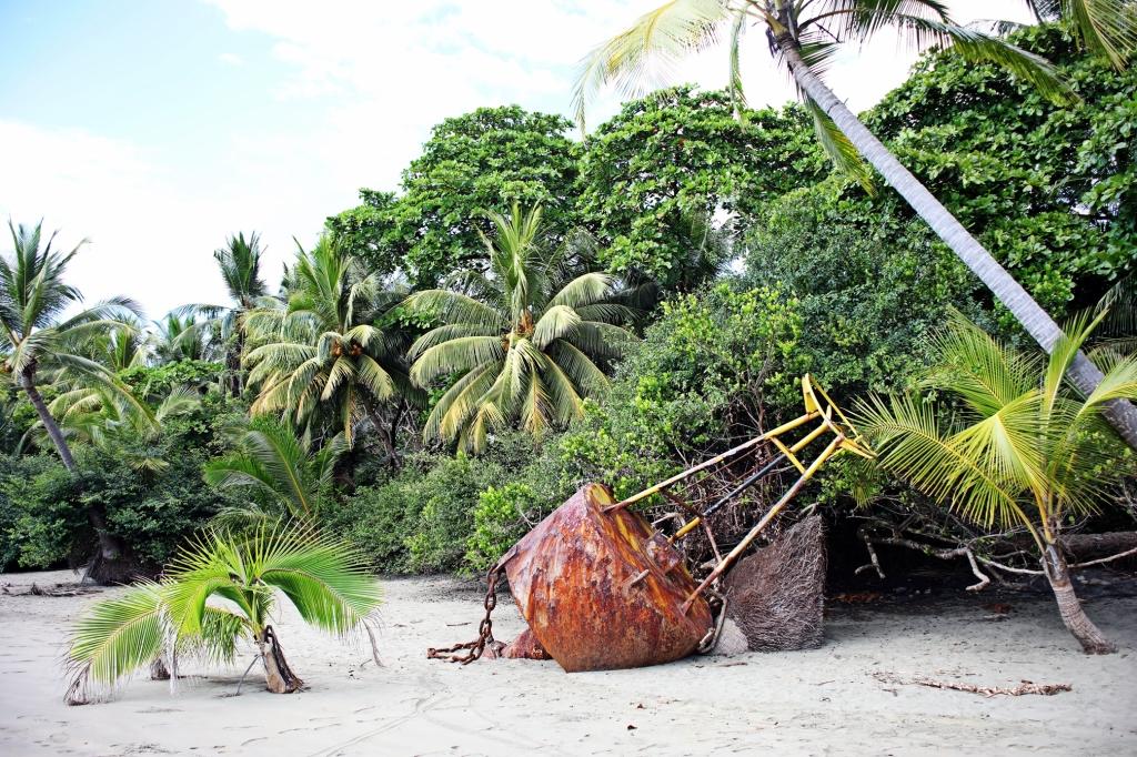 Washed up buoy, Ballena National Marine Park