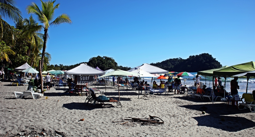 Busy Manuel Antonio Beach