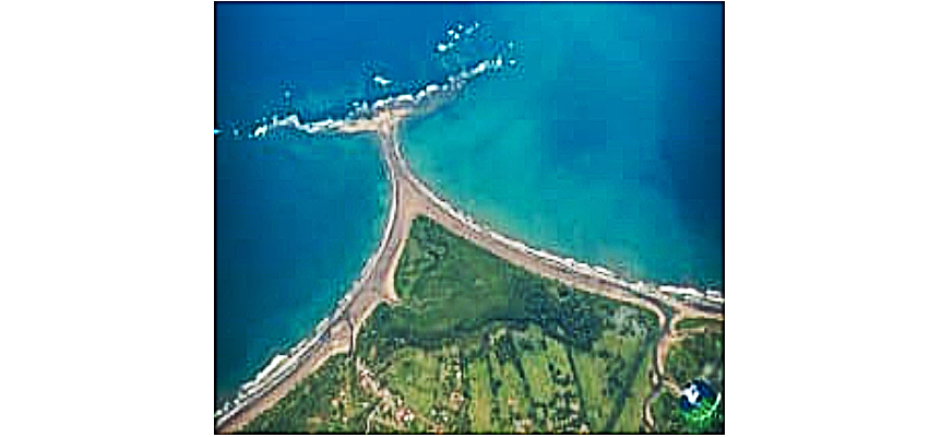 Aerial View, Whale Tail, Ballena National Marine Park, courtesy internet