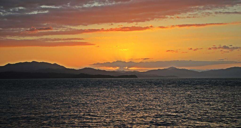 Sunset, Puntarenas beach