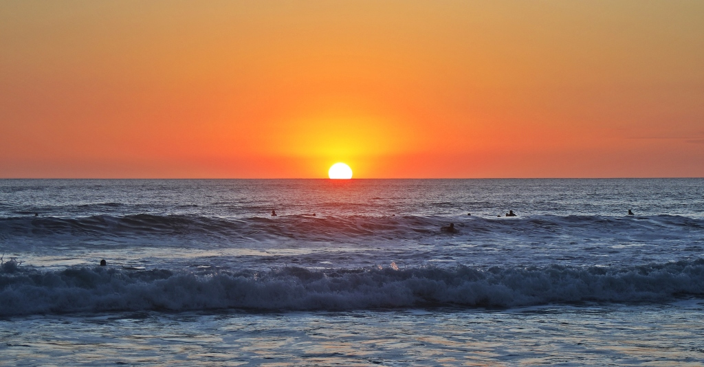 Sunset, Santa Teresa Beach