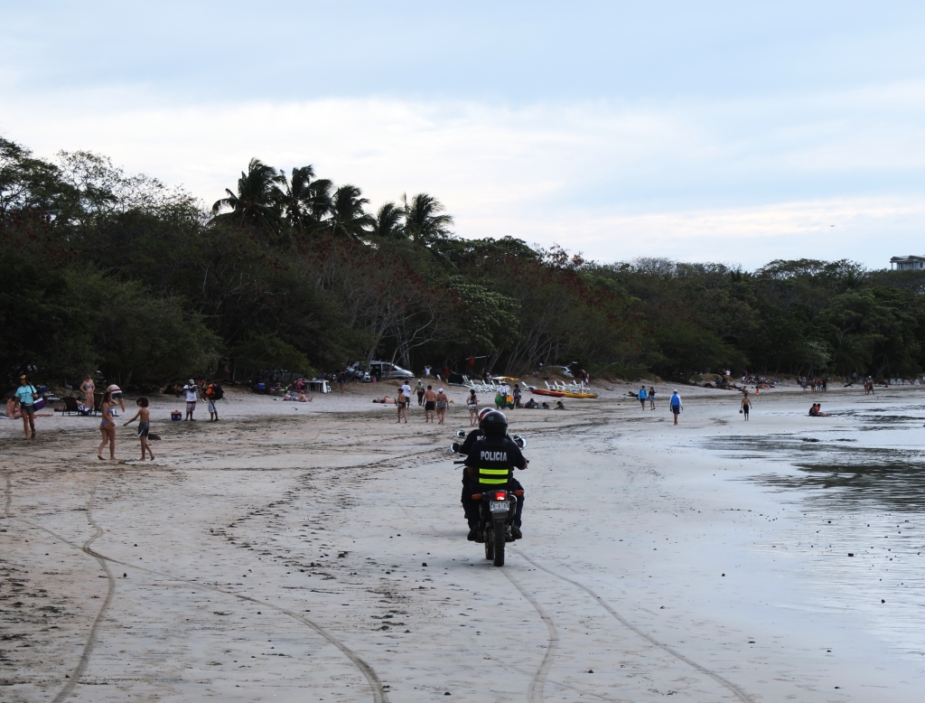 Police on Tamarindo Beach