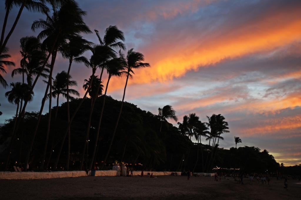 Sunset, Santa Teresa Beach