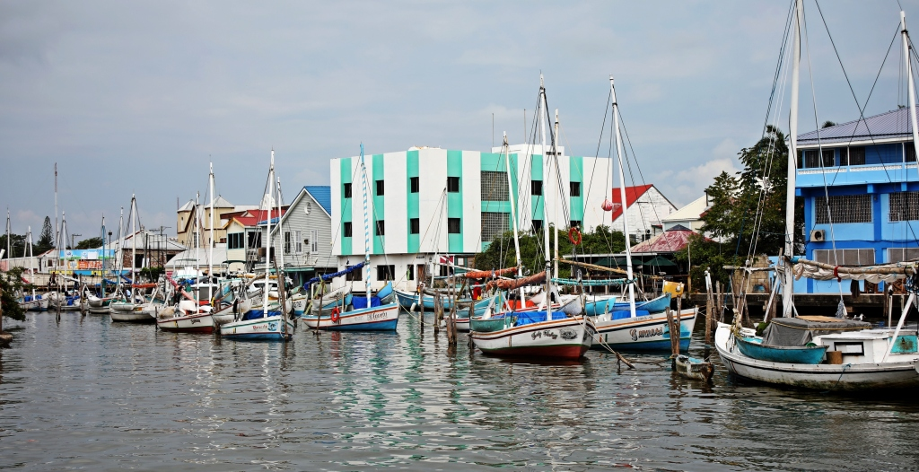 Fishing boats in the canal, Belize City