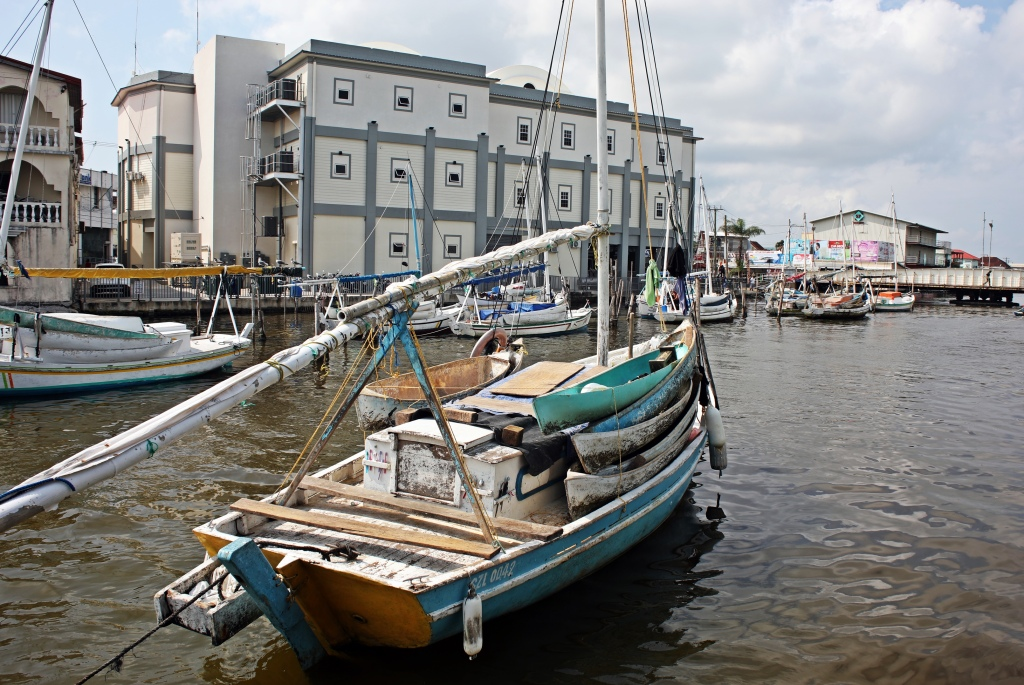 Fishing boat in the canal, Belize City