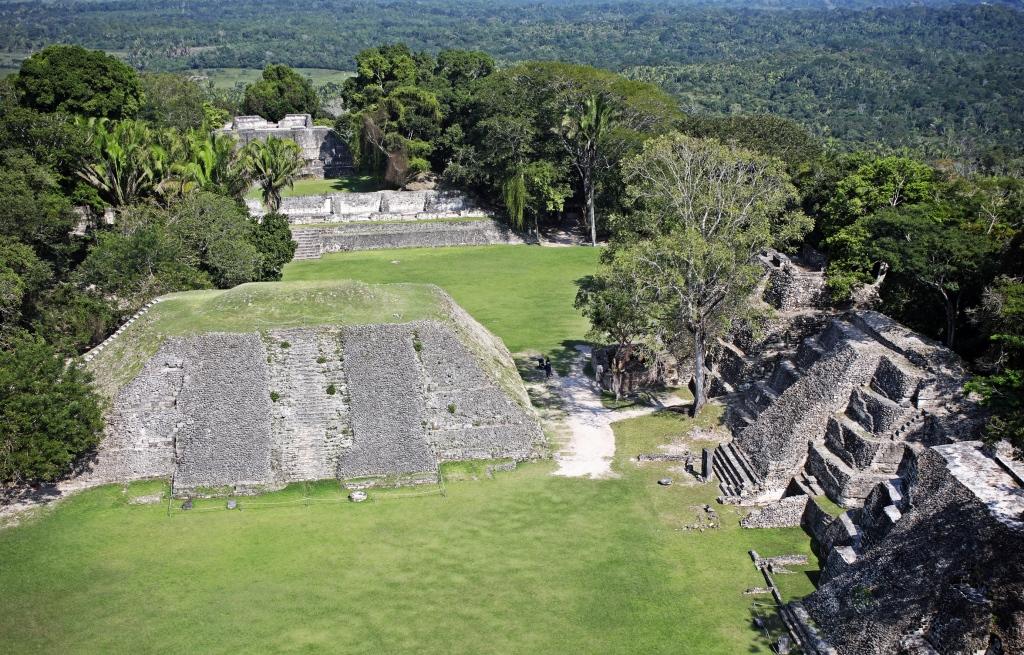 View from top of El Castillo, Xunantunich