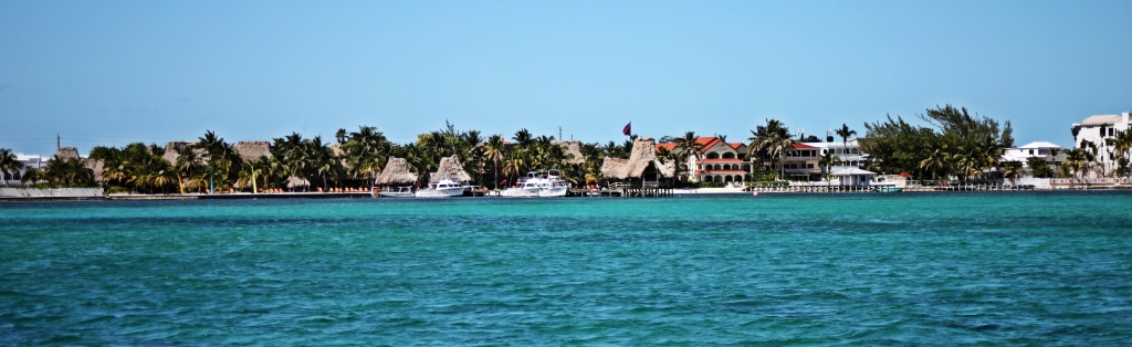 Ambergris Caye from the ferry