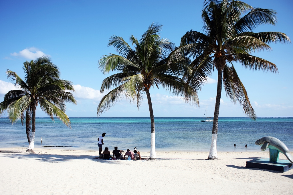 The beach, Ambergris Caye