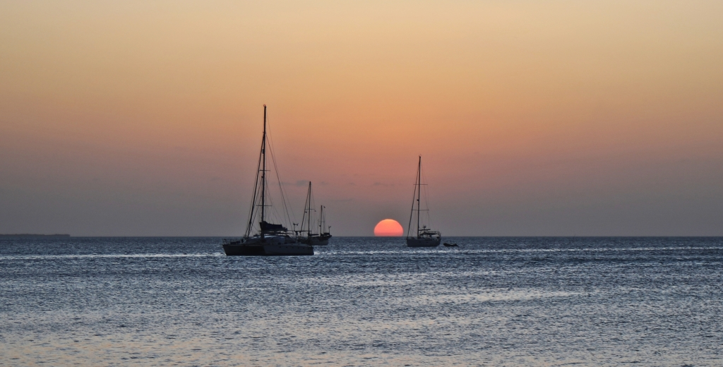 Sunset from The Split, Caye Caulker