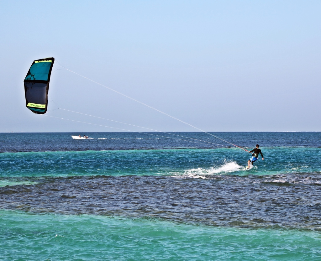 Kite boarder, Caye Caulker