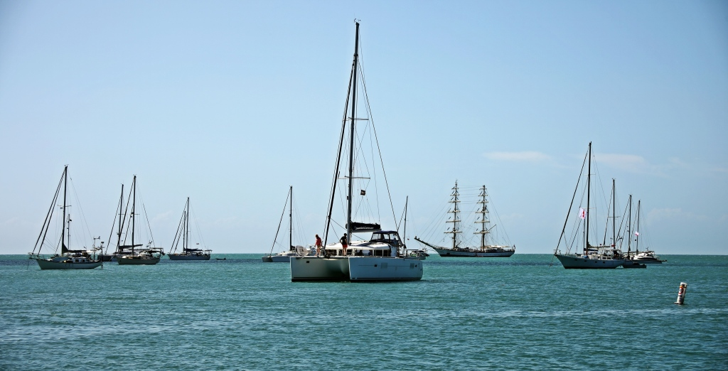 Sailboats, Placencia Village, Belize