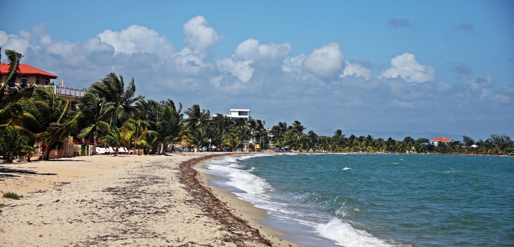 Beach, Placencia Village, Belize