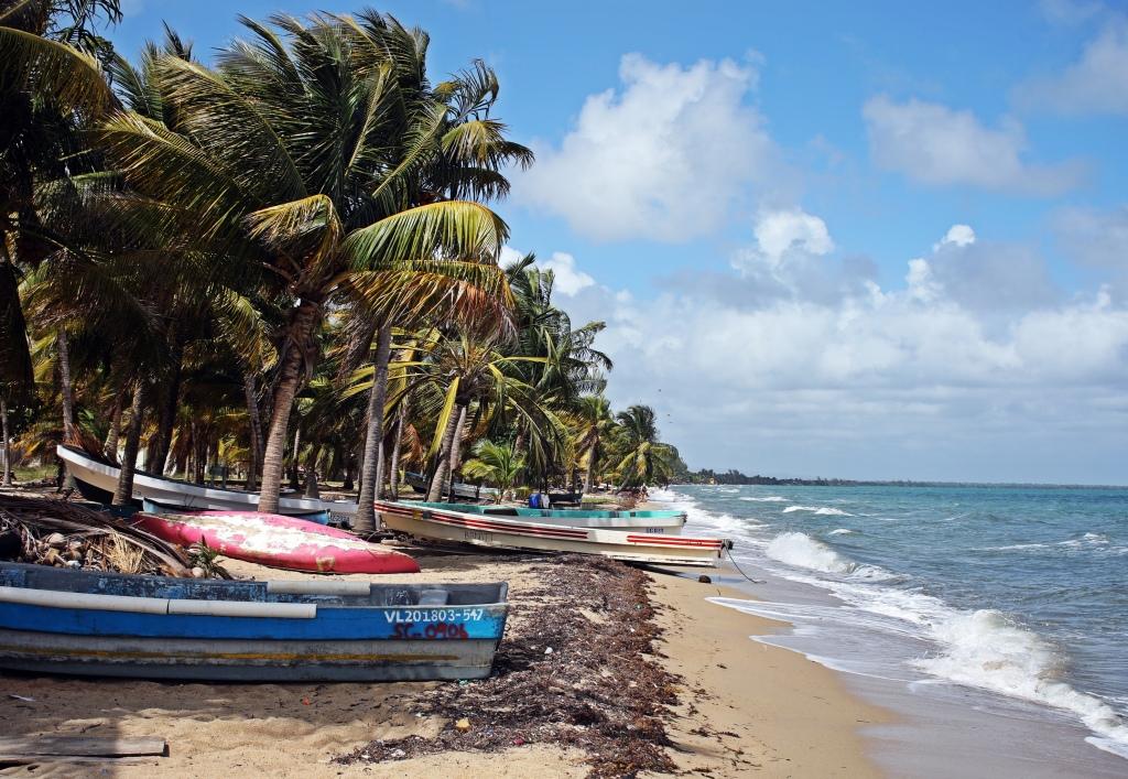 Fishing boats, Hopkins, Belize