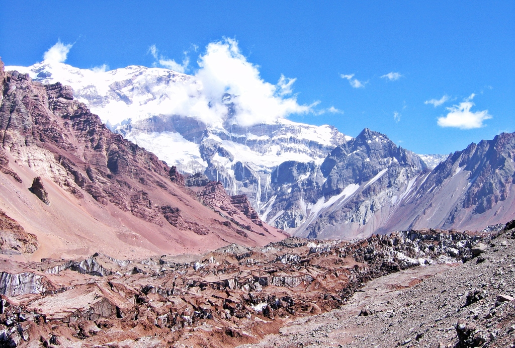 South Wall Aconcagua from Plaza Francia