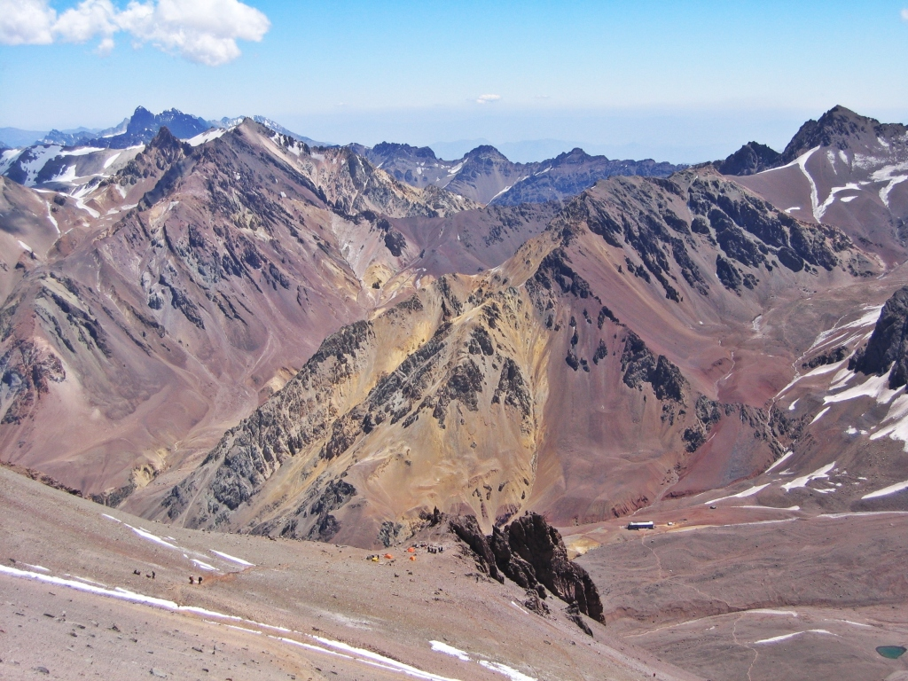 View above Camp Canada, Aconcagua