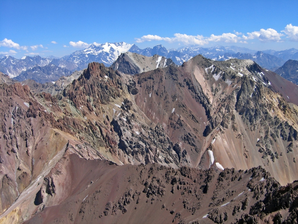 View from above Camp Alaska, Aconcagua