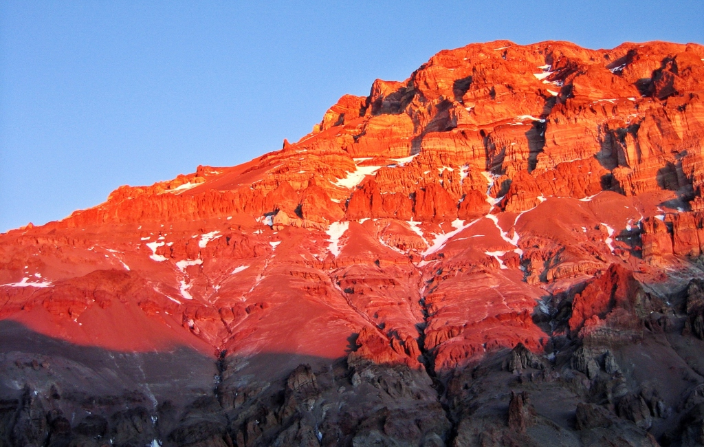 Alpenglow on Aconcagua