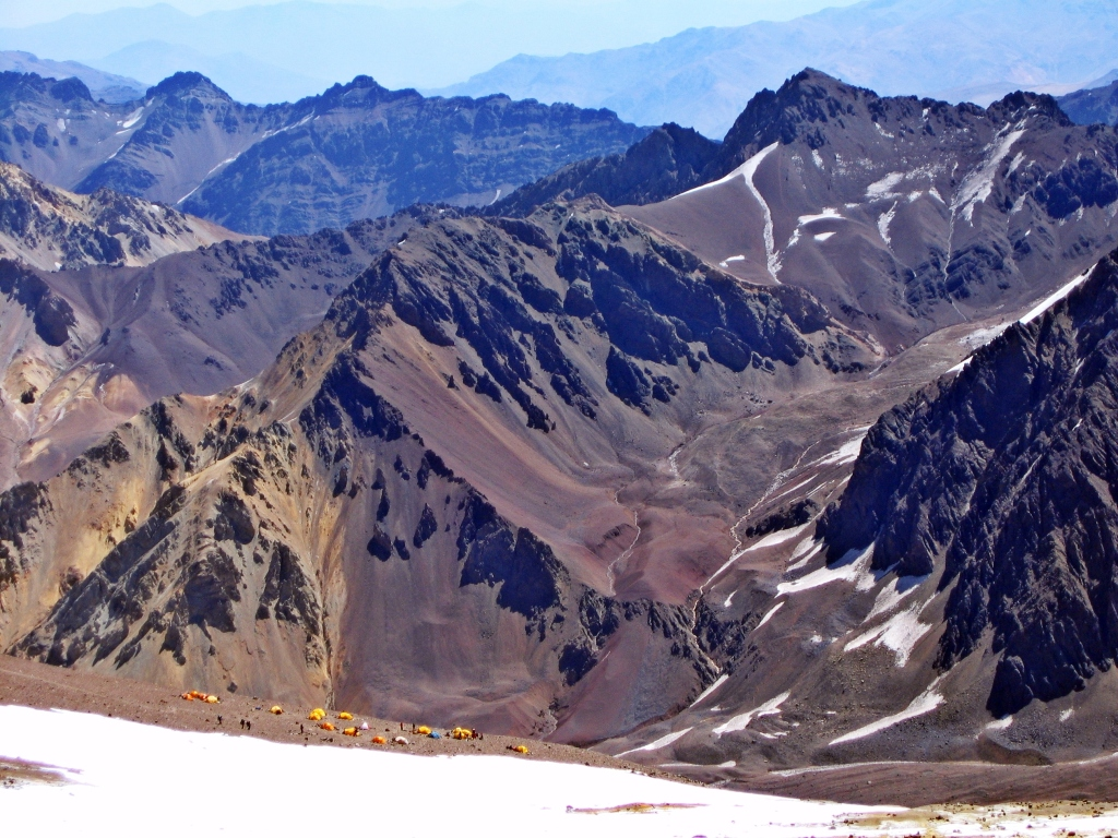 Camp Alaska from above, Aconcagua