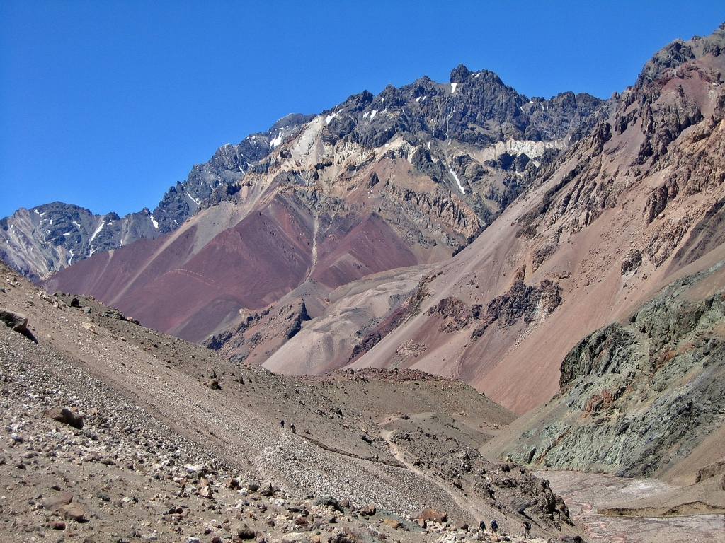 Trail to Camp Canada, Aconcagua